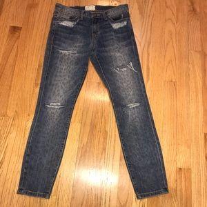Current Elliott Animal Print Jeans Skinny  28x26